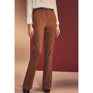 Massimo Dutti Wool Blend Flared Smart Trousers 10